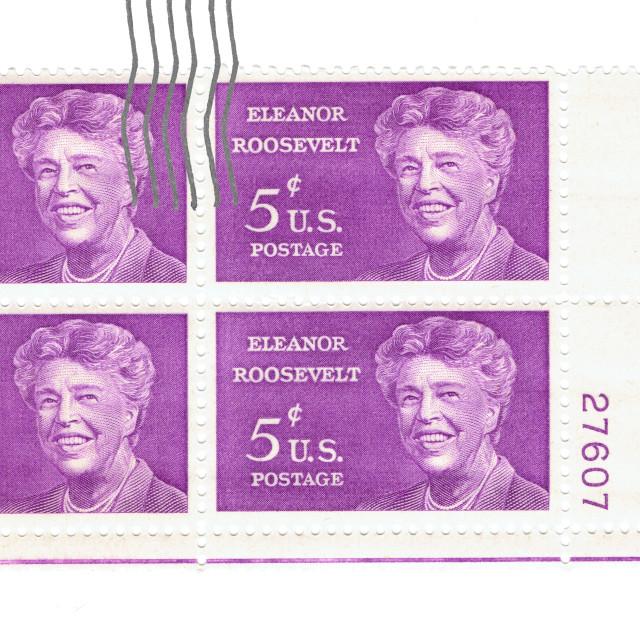 """Eleanor Rossevelt, 5c U.S, Postage"" stock image"