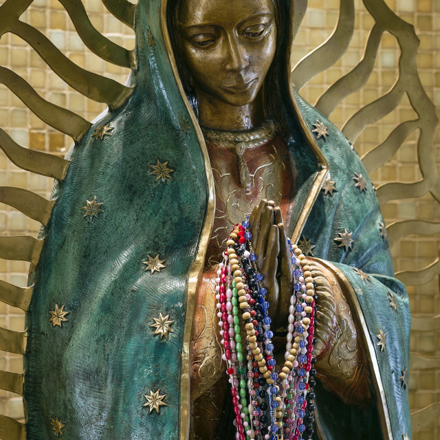 """Our Lady of Guadalupe shrine, National Shrine of Divine Mercy, Stockbridge, Massachusetts, USA"" stock image"
