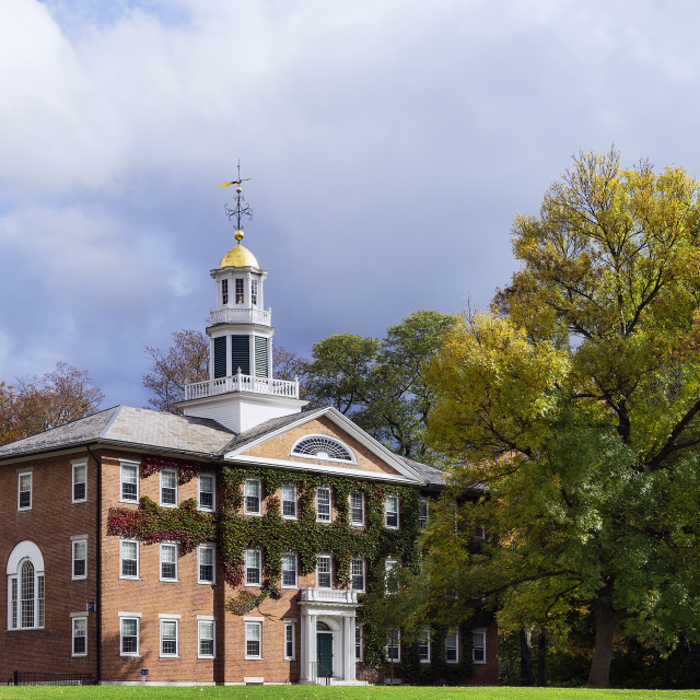 """""""Griffin Hall, Williams College campus, Williamstown, Massachusetts, USA"""" stock image"""