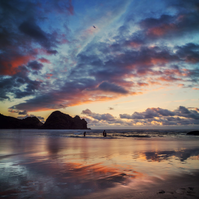 """Piha Beach West Coast New Zealand"" stock image"