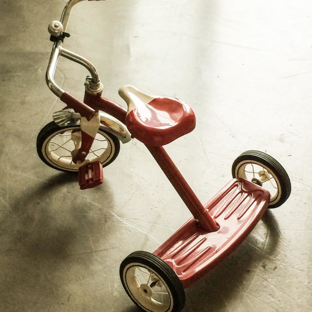 """Red tricycle"" stock image"