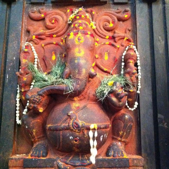 """God Ganesha in Indian temple"" stock image"