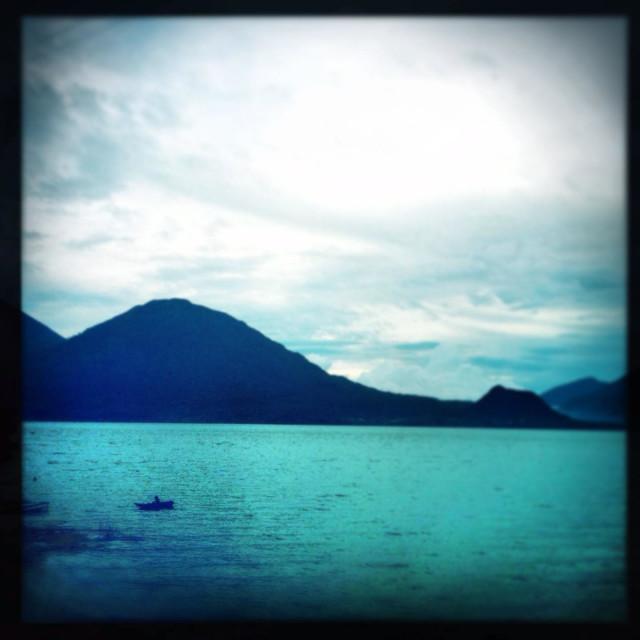 """Lake Atitlan from San Antonio Palopo , Solola, Guatemala."" stock image"