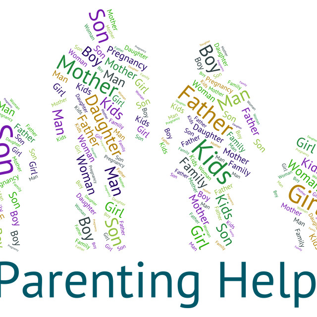 Parenting Help Represents Mother And Child And Advice License