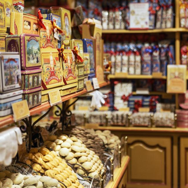 """""""La Cure Gourmande, Saint Paul de Vence, France"""" stock image"""