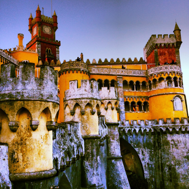 """Pena national palace, Sintra, Portugal"" stock image"