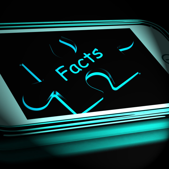 """""""Facts Smartphone Displays True And Honest Answers"""" stock image"""