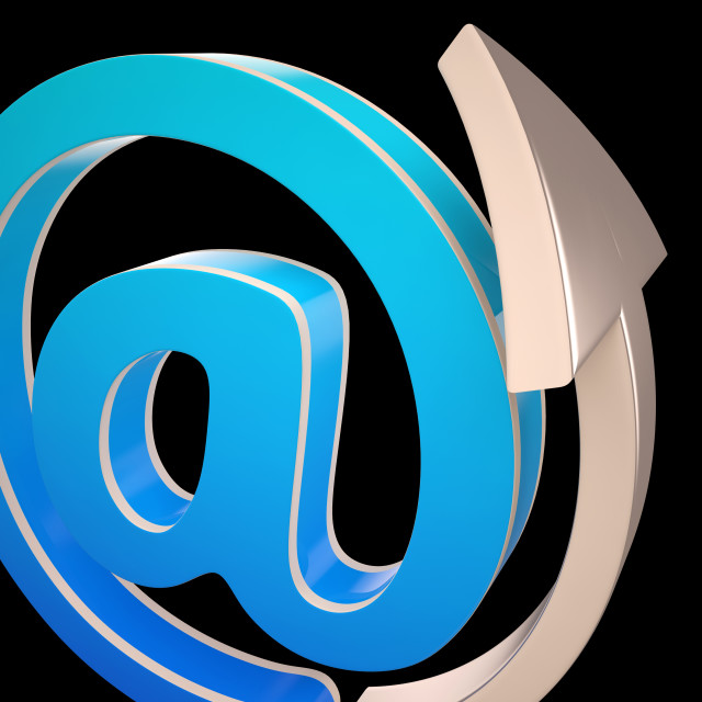 """""""At-Symbol Shows Electronic Mail Correspondence"""" stock image"""