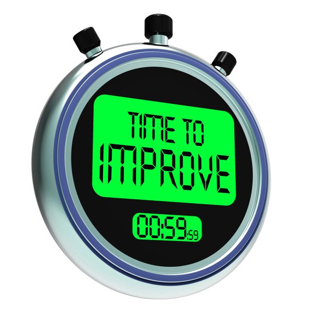 """Time To Improve Message Meaning Progress And Improvement"" stock image"