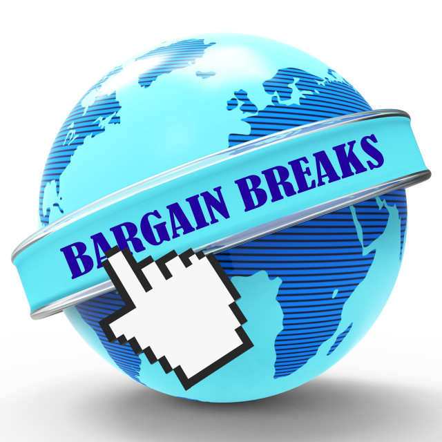 """Bargain Breaks Represents Short Holiday And Travel"" stock image"