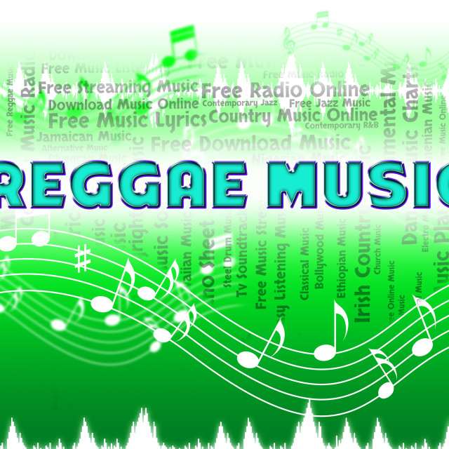 """Reggae Music Shows Sound Track And Audio"" stock image"