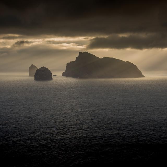 """Rays of Light - St Kilda"" stock image"