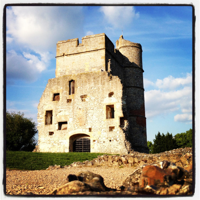 """Donnington castle, newbury, berkshire"" stock image"