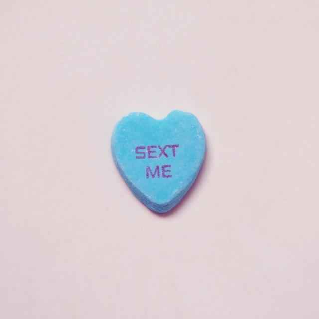 """Sext Me"" stock image"