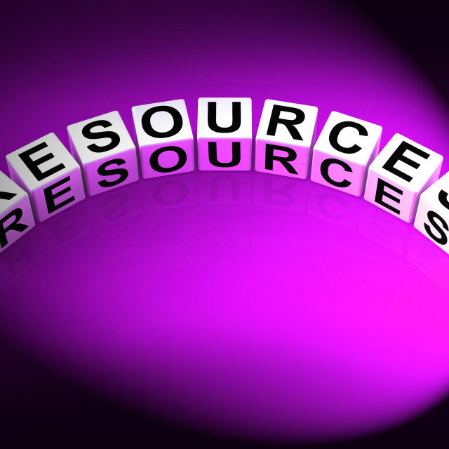 """""""Resources Dice Mean Collateral Assets and Savings"""" stock image"""