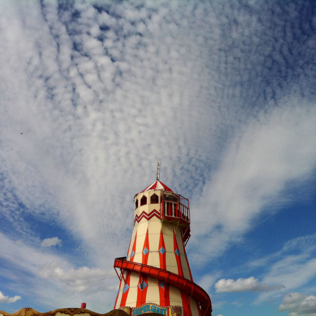 """Helter skelter with sky"" stock image"