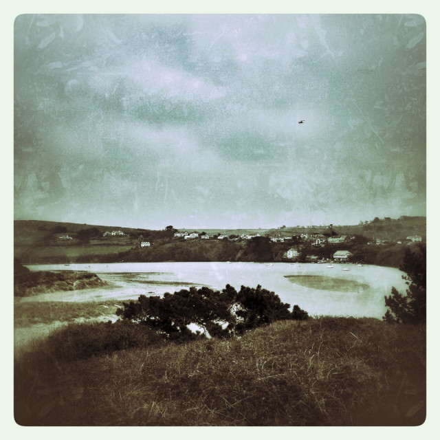 """River Avon, Bantham south Devon, vintage"" stock image"