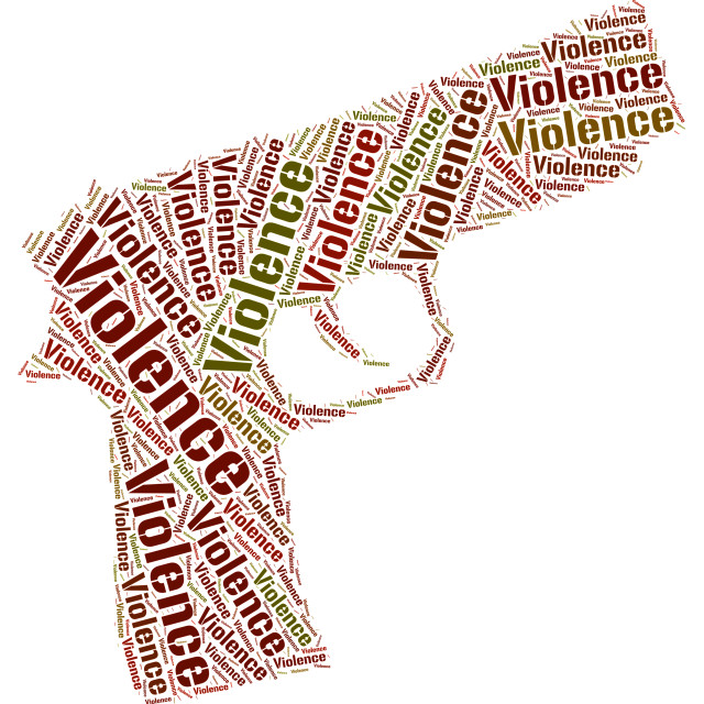 """""""Violence Word Indicates Brute Force And Brutality"""" stock image"""