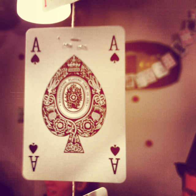 """Ace of spades playing card decoration"" stock image"
