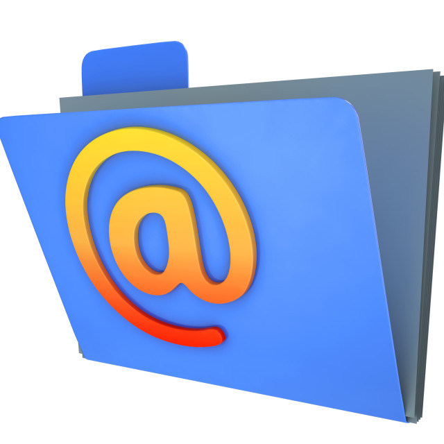 """""""Email Folder Shows Correspondence Organised Into Groups"""" stock image"""
