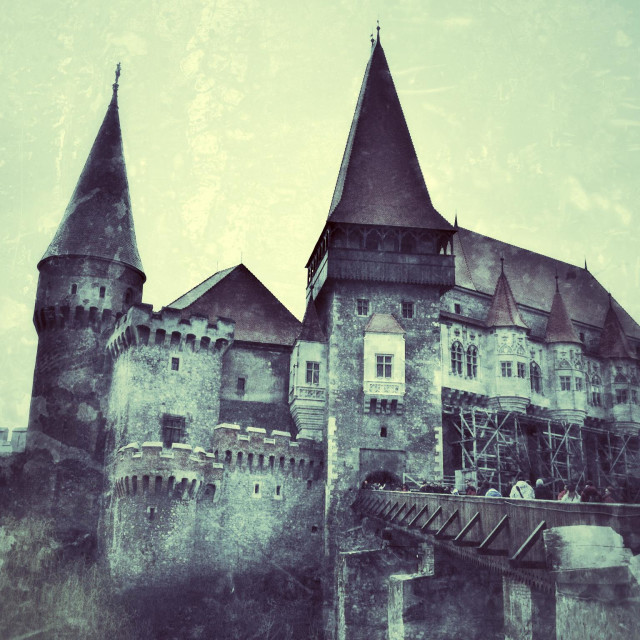 """Hunedoara castle"" stock image"