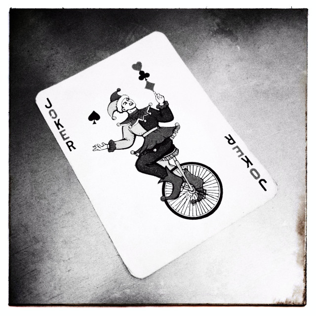 """Joker playing card"" stock image"