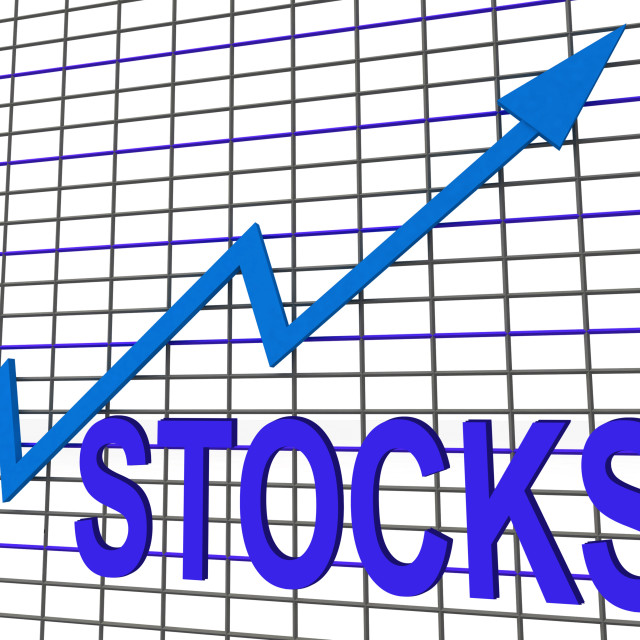 """Stocks Chart Graph Shows Increase Investment Earnings"" stock image"
