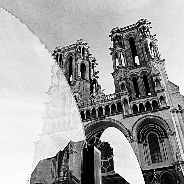 """""""Laon Cathedral, France"""" stock image"""