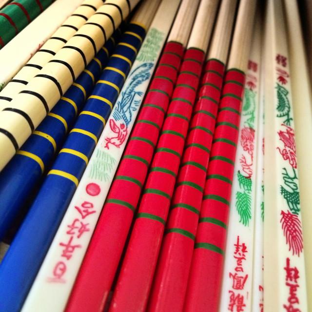 """Chinese chopsticks"" stock image"