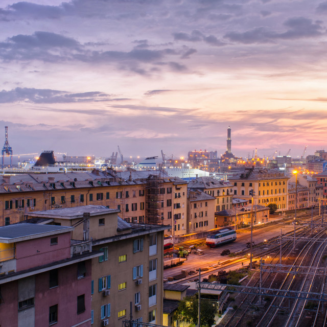 """Beautiful Twilight In Genoa"" stock image"