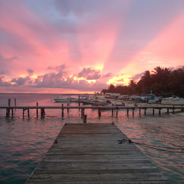 """""""Sunset in Isla mujeres. Mexico."""" stock image"""