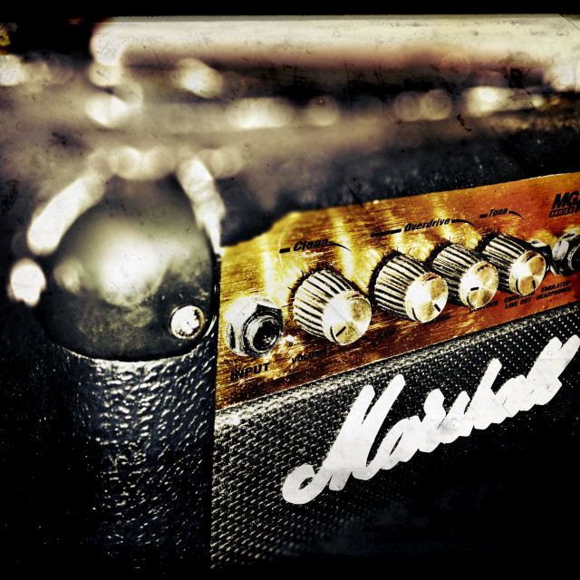 """Marshall amp"" stock image"