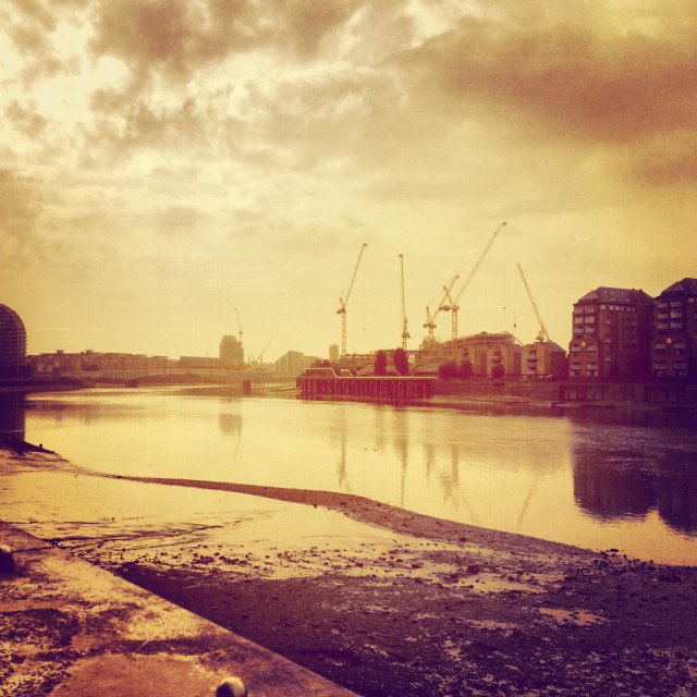 """River Thames at vauxhall"" stock image"