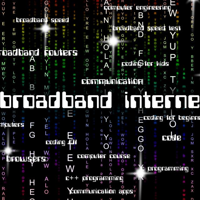 """Broadband Internet Represents World Wide Web And Computing"" stock image"