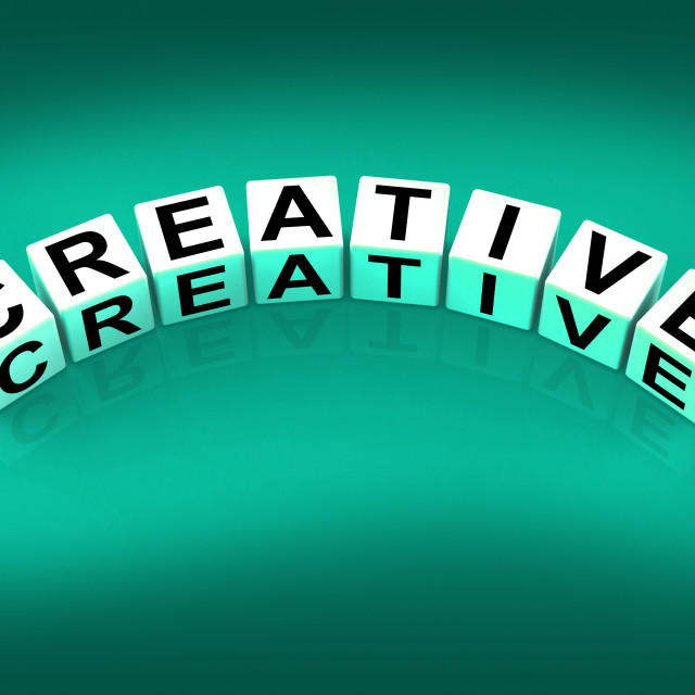 """Creative Blocks Mean Innovative Inventive and Imaginative"" stock image"