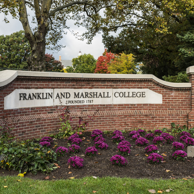 """Franklin & Marshall college campus, Lancaster, Pennsylvania, USA"" stock image"