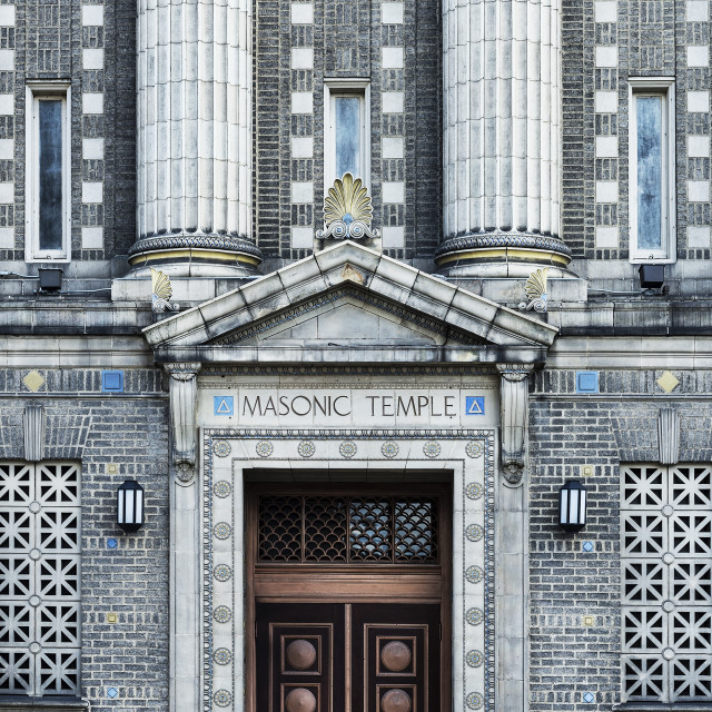 """Masonic Temple, Wilkes Barre, Pennsylvania, USA"" stock image"