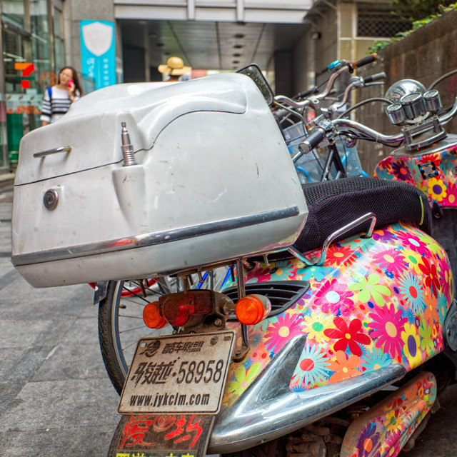 """Flower scooter"" stock image"