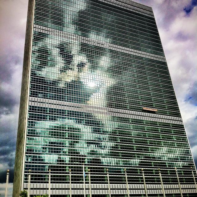 """UN headquarters, New York, USA"" stock image"