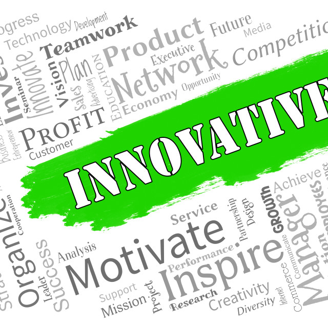 """""""Innovative Words Represents Creative Breakthrough And Ideas"""" stock image"""