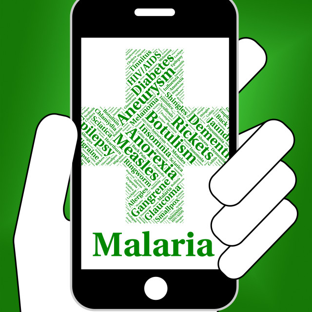 """Malaria Disease Indicates Disorders Malady And Infirmity"" stock image"