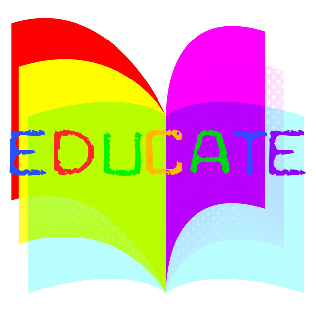 """Educate Education Indicates Study Learn And Training"" stock image"