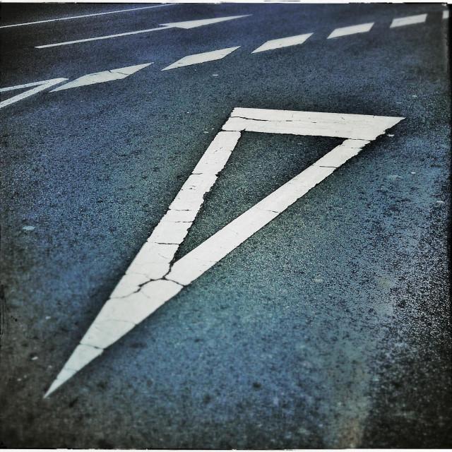 """Give way road marking"" stock image"