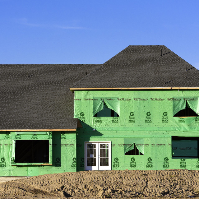 """New home construction site, New Jersey, USA"" stock image"