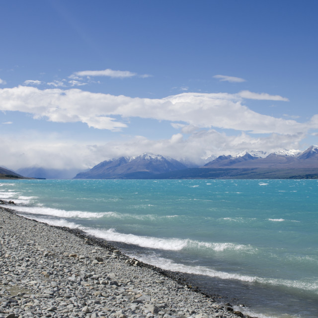 """Pukaki Waves"" stock image"