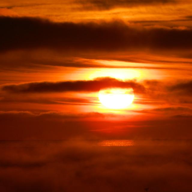 """Sunrise North Sea"" stock image"