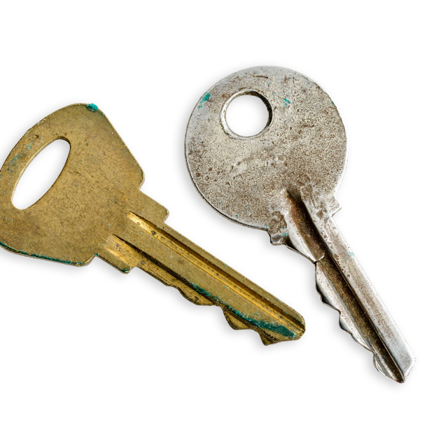 """Old Moderm Keys"" stock image"