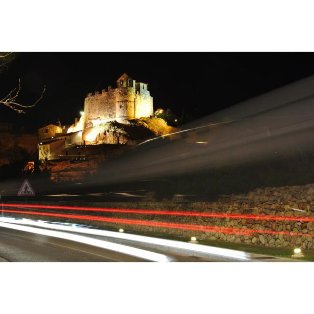 """""""Castillo de noche"""" stock image"""