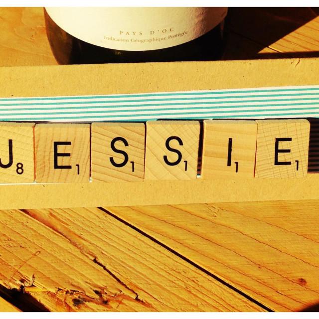 """Jessie scrabble letters"" stock image"