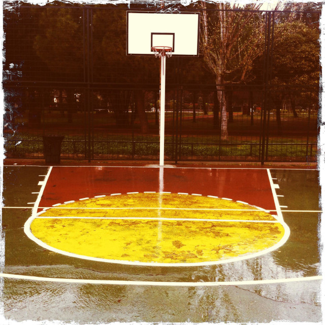 """Basketball Court"" stock image"